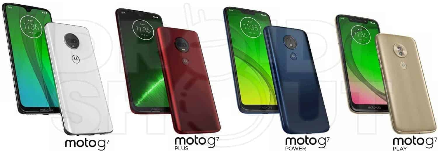 Exclusive: Moto G7, Plus, Power and Play Renders