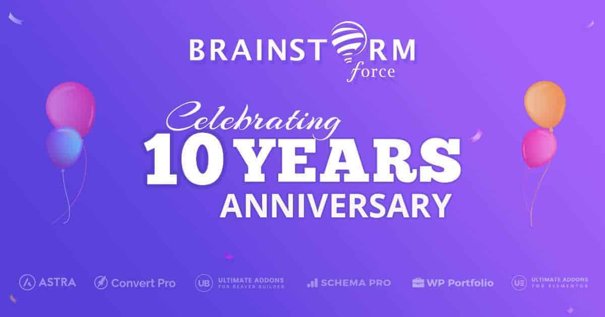 Brainstorm Force Celebrating 10 years Anniversary Mega Sale