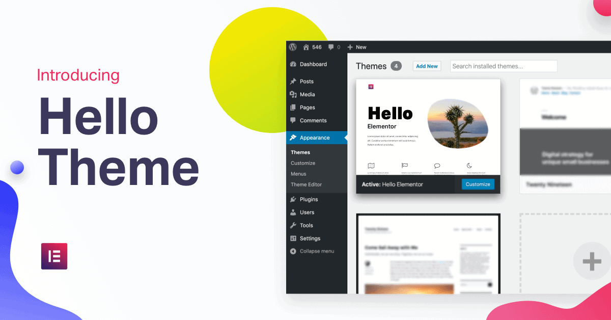 Hello Theme: The Fastest WordPress Theme