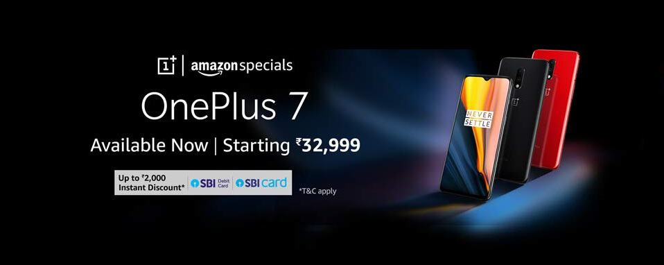 ONEPLUS 7 sale on amazon india