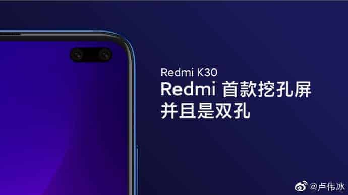 REDMI K30 Punch Hole Camera