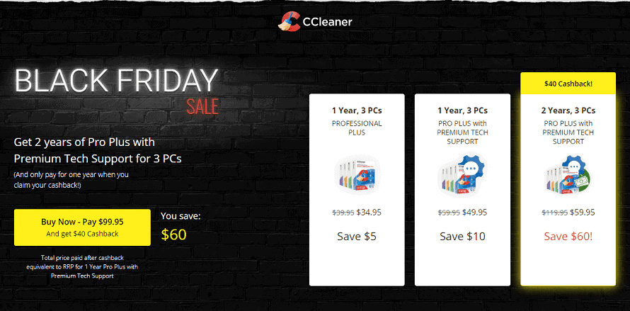 CCleaner Black Friday Sale 2020