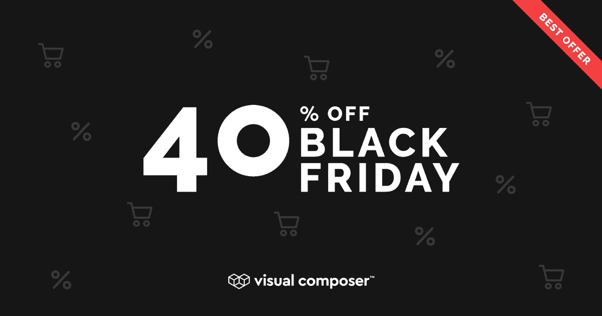 Visual Composer Black Friday Cyber Monday 2019