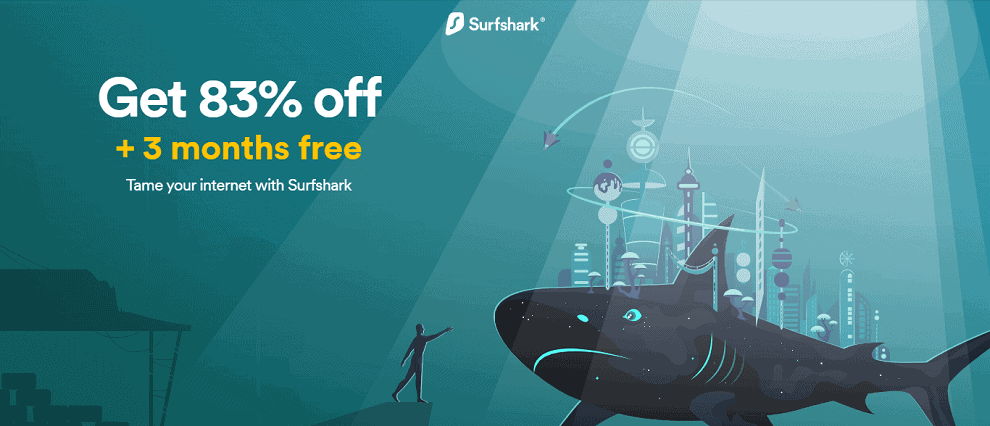 Surfshark Black Friday Exclusive Save 83%